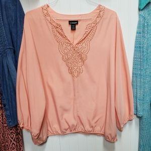 Lane Bryant 18/20 bead embellished blouse